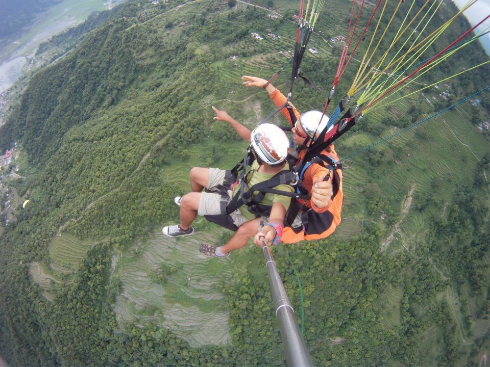 Paragliding In Pokhara Nepal Nepal Outdoor Adventures